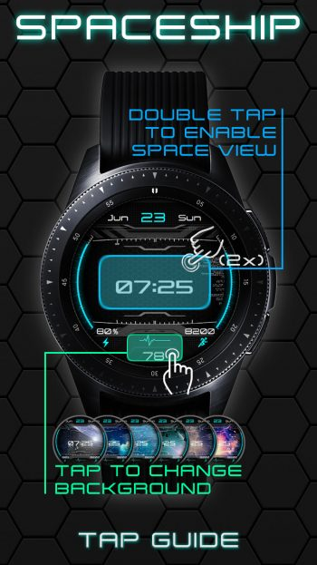 spaceship watchface